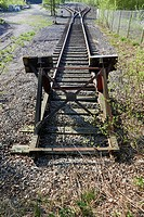 end of the rails.