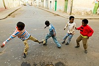 Football game, Asmara, Eritrea.