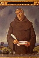 Reverendo fray Juan Crespi. Juan Miralles,oleo sobre tela. Museo de Fray Junípero Serra. Petra. Majorca, Balearic Islands, Spain