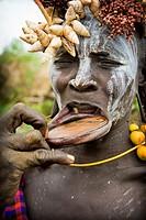 Mursi tribe, Mago National Park, Ethiopia.