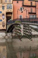 BRIDGE AND FLORAL ART EXHIBITION IN GIRONA. CATALONIA. SPAIN.