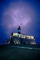 Farol da Barra, Lighthouse, Salvador, Bahia, Brazil.