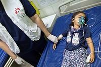 Emergency room at Sulaimaniya hospital, Iraq.
