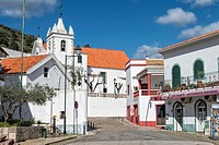 Alte village and Nossa Senhora da Assunçao Church, Algarve, Portugal.