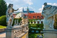 Czech Republic, Prague. Palacove Zahrady, historical garden in Mala Strana.