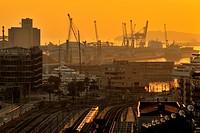 Tarragona Harbor from New Rambla.