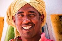 Africa, Egypt, Gharb Sohel, nubian man