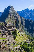 Overview of Machu Picchu from the entrance level of the settlemeny.
