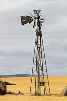 An old windmill in Boardman, Oregon, USA.