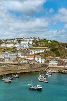 View over the harbor of the fishing village Mevagissey in Cornwall, England, UK.