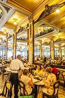 Brazil, Rio de Janeiro, Confeitaria Colombo, historical cafè at Rua Goncalves Dias.