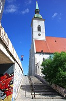 Alley to St. Martin´s Cathedral, Bratislava.