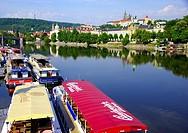 The Vultava and the Prague Castle.