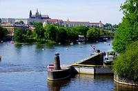 The Vultava River, Prague, on a Sunday afernoon.