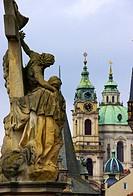 Statue at Charles Bridge, Prague.