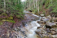 Tecumseh Brook in Waterville Valley, New Hampshire during the spring months.