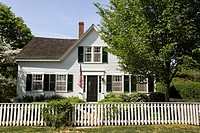 A home in West Tisbury, Martha´s Vineyard, Massachusetts, United States, North America. Editorial use only.