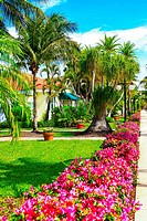 Chalet apartments at the Gasparilla Inn & Club, Boca Grande, on Gasparilla Island, Florida.