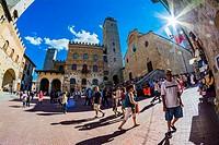 San Gimignano, Siena, Tuscany, Italy, Europe.