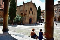 Santo Stefano Piazza, Bologna, Emilia-Romagna, Italy, Europe.