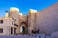 Arch of San Basilio. Cuéllar, Segovia, Castilla y León, Spain, Europe.