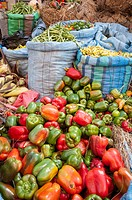 Vegetables in bolivian market. La Paz. Bolivia. South America