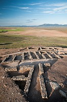 Hornachuelos roman ruins. Ribera del Fresno. Badajoz province. Extremadura. Sapain