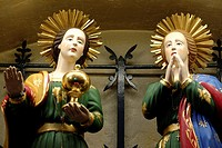 Statues of the two Marys in the church in les Saintes-Marie de la mer