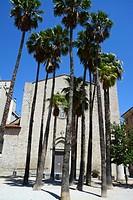Santa Susanna del Mercadal Church. City of Girona, Catalonia, Spain, Europe.