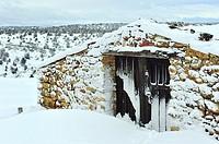 Winter. Huertahernando, Guadalajara province, Spain