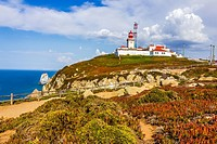 Light house at Cape Roca, Sintra, Portugal.