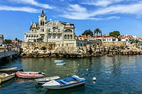 View of Cascais waterftont near Lisbon in Portugal.