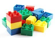 Plastic building block.