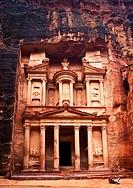 The Treasury, Petra, Jordan, Western Asia.