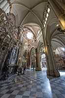 Interior of The Primate Cathedral of Saint Mary of Toledo.