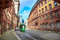 FRANKFURT ON THE MAIN, GERMANY: The City of Frankfurt on the Main, Germany.