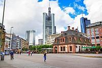 FRANKFURT ON THE MAIN, GERMANY: The Hauptwache or Main Guard Plaza of Frankfurt on the Main, Germany.