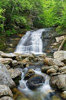 Cascade along Cold Brook in Randolph, New Hampshire during the summer months.