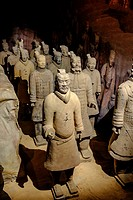 Europe, Spain, Barcelona, Exhibition Xian warriors figure copy