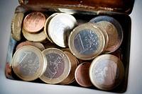 Euros, euro, monedas, money.