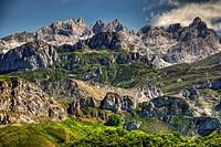 Western Massif of Picos de Europa from Ponga Conceil. Asturias. Spain.