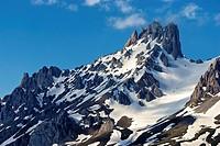 Torre del Friero (2445 m). Central Massif. Valdeon Valley. Picos de Europa National Park. Leon Province. Castilla y Leon. Spain.