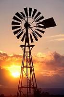 Windpump on a farm in country Victoria, Australia.