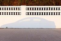 Shadow of a car.