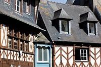 Architecture of Treguier, Cotes d´armor, Bretagne, France.