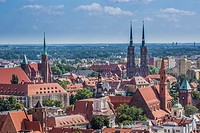 Poland, Wroclaw City, Panorama.
