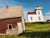 North Rustico Harbor Lighthouse Prince Edward Island Canada.