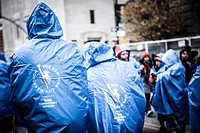 marathon runners at New York International Marathon 2014.