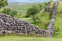 UK, England. Hadrian´s Wall between Gilsland and Steel Rigg, Northumberland.