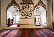 Ulu Mosque (Grand Mosque) by architect Ali Neccar. 14th Century. Bursa. Turkey.
